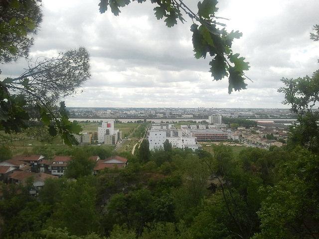Vue depuis le fil vert à Floirac - parc des Coteaux
