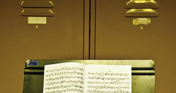 pupitre et partition © Opéra de Bordeaux