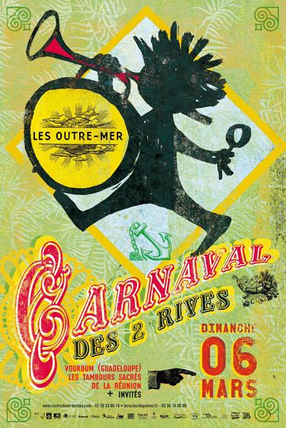 Affiche du Carnaval des 2 Rives 2011