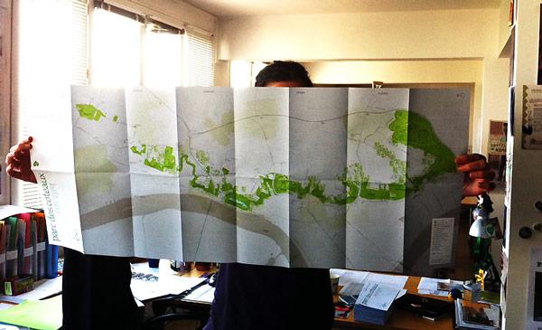 La carte du Parc des coteaux