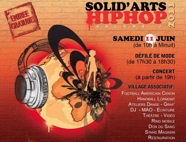 Solid'arts Hip Hop Vol.2 au Rocher de Palmer