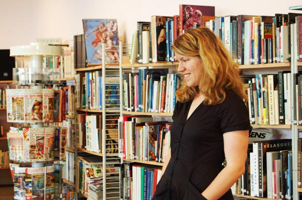 Anne Laure Boyer à la médiathèque François Mitterrand de Bassens