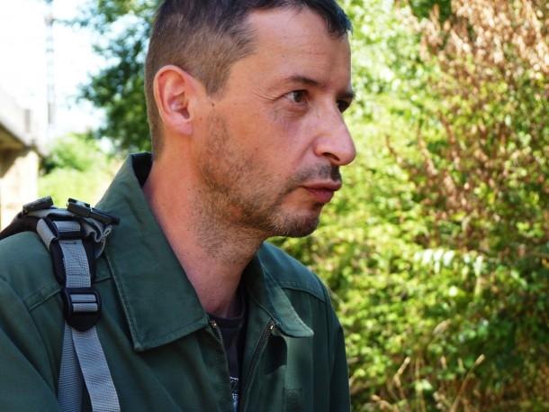 Laurent Tixador en repérages pour panOramas 2012