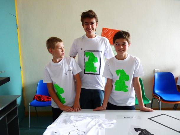 Ateliers de sérigraphie à Bassens avec le Studio Tricolore