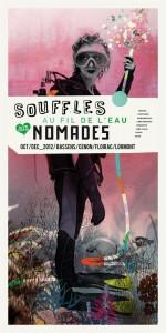 Affiche de Souffles Nomades 2012 (Graphisme : Célestin)