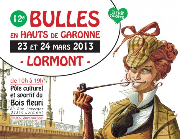 Affiche Bulles 2013 - Illustration : Cecil