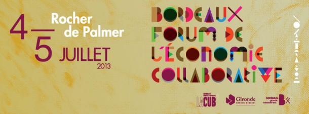 Bannière Forum de l'Economie Collaborative / Blog Rive Droite