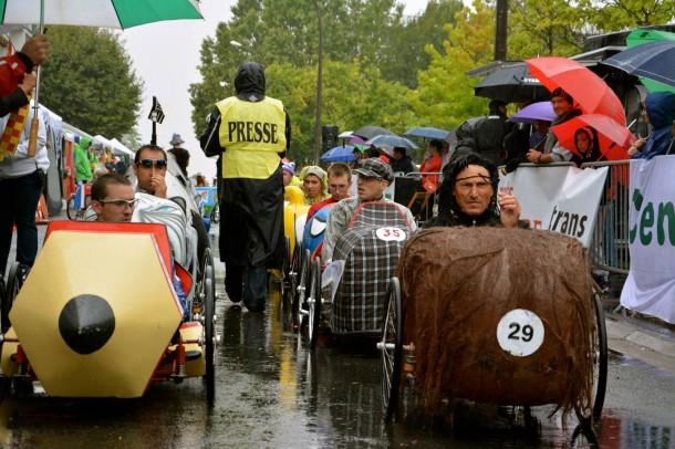 Voitures à Pédales, Cenon, 25 août 2013 : la grille de départ