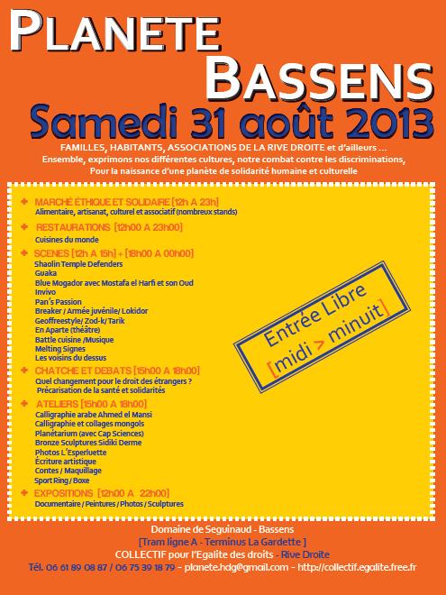 Planète 2013 à Bassens : le programme