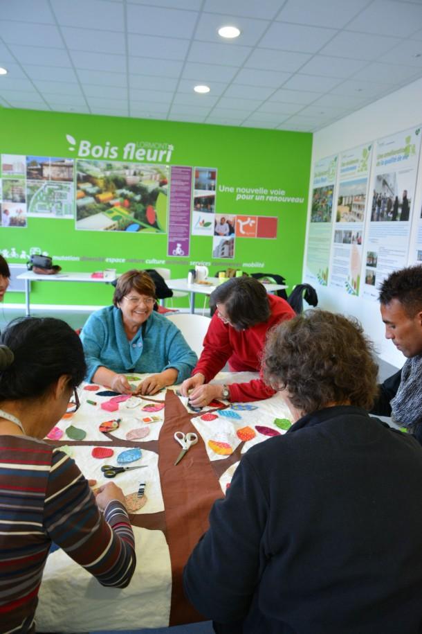 Yarn bombing au Bois Fleuri / Blog Rive Droite