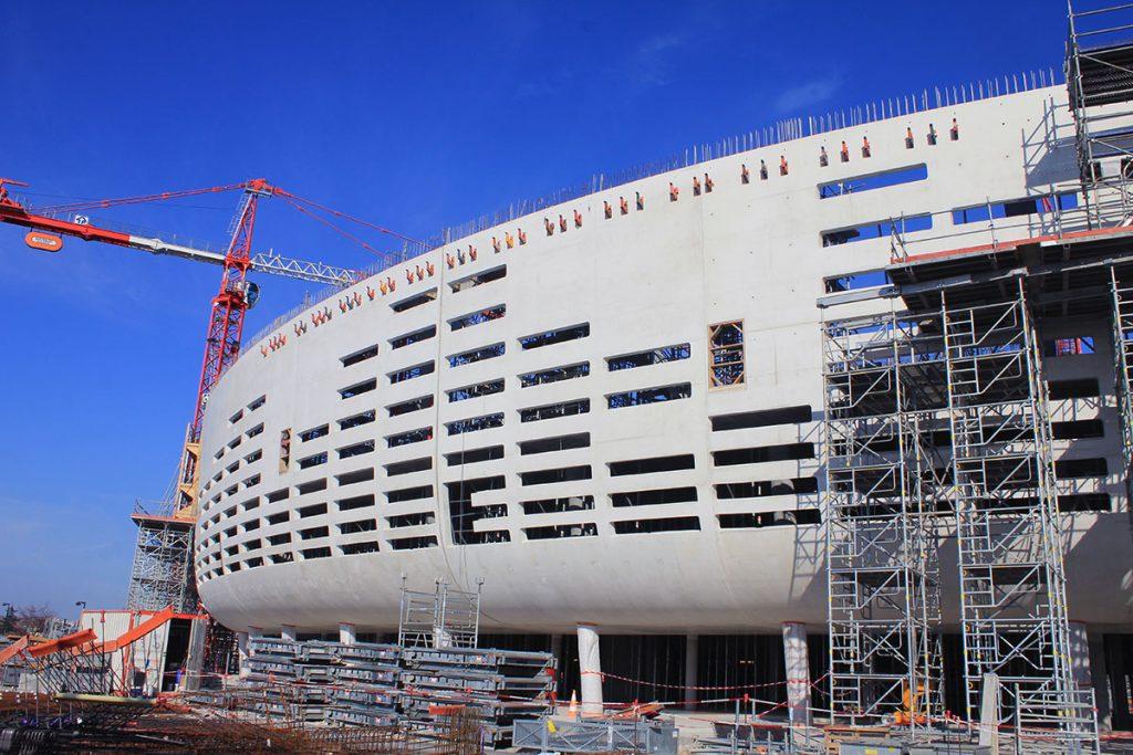 Arena en construction - Photo © SENSO – Bordeaux Métropole Arena.