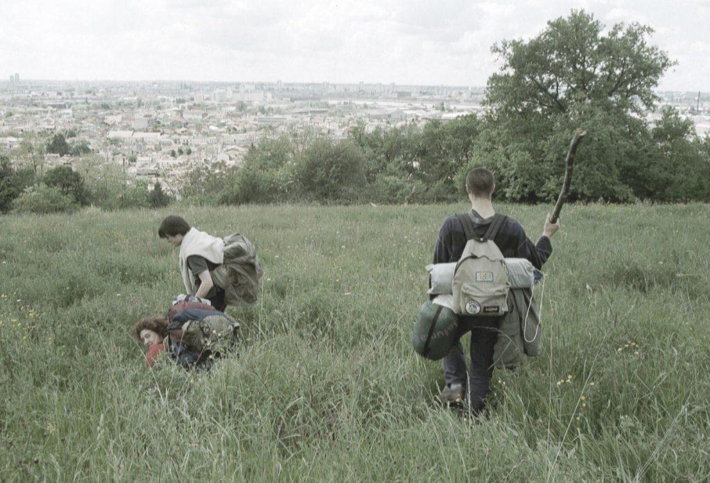 Des randonneurs sur le parc des Coteaux